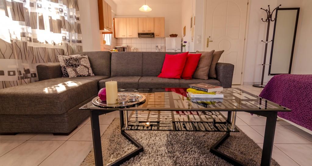Hotel Orestiada Grey Apartment Sofa