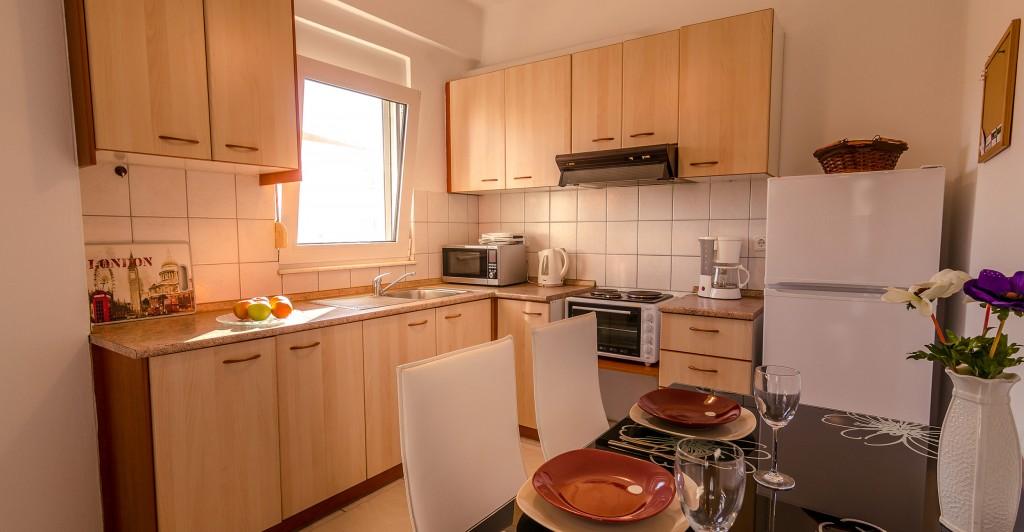 Hotel Orestiada Grey Apartment Kitchen